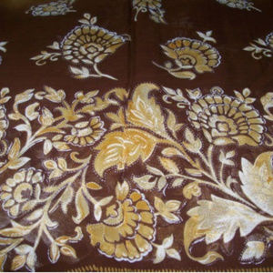 NEW Floral Brown & Tan Beach Sarong ~ Rich Fashion